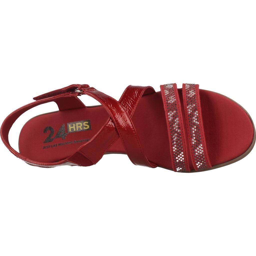 24 Horas 24077 24h Rojo Zapatos Online.