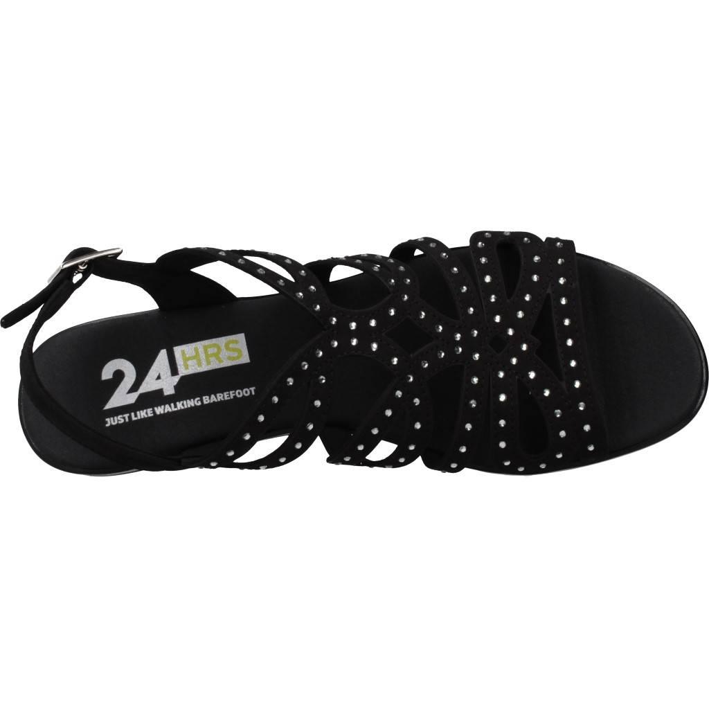 24 Horas 24510 Negro Zacaris Zapatos Online - Gran Venta