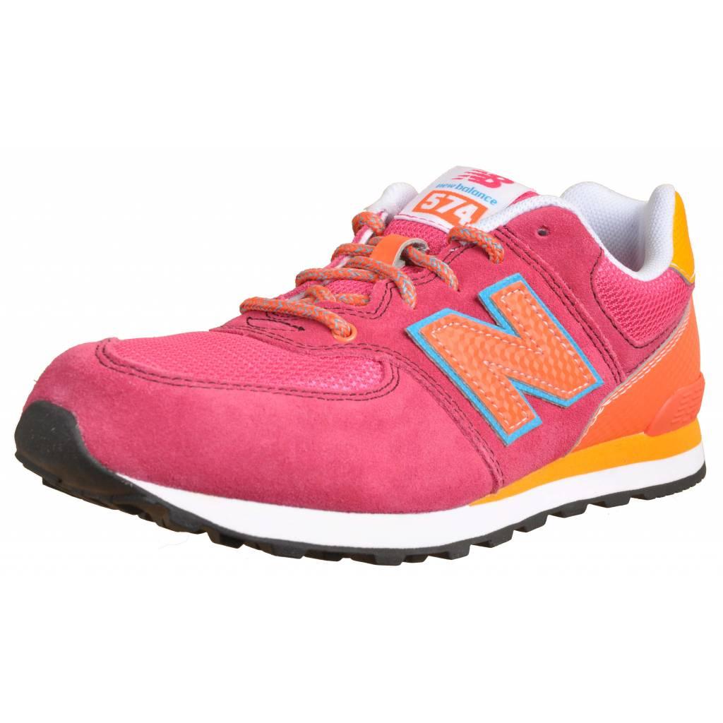 new balance rosa y naranja