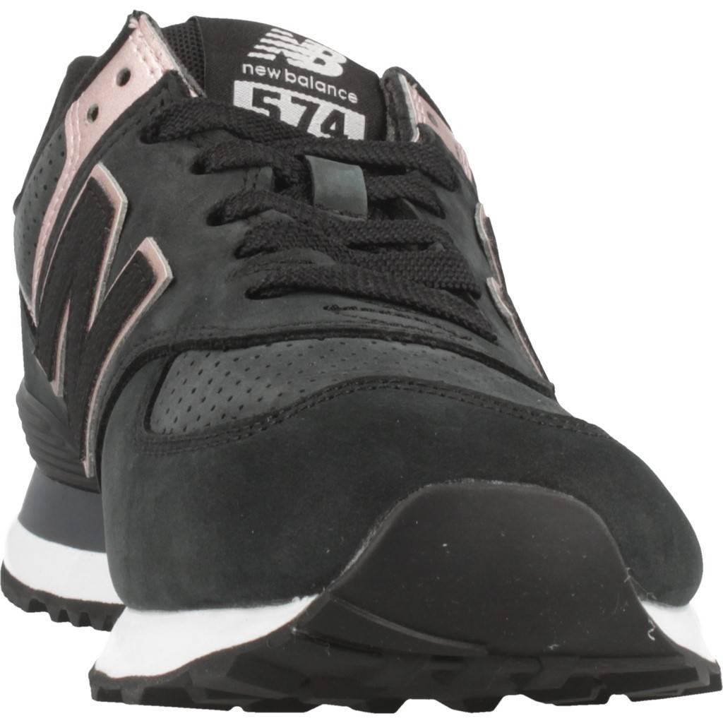 official photos 5254c 2231b NEW BALANCE WL574 NBK NEGRO Zacaris zapatos online.