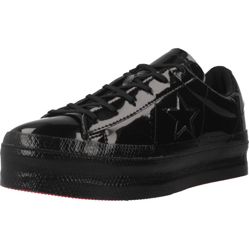 Sport   Pantoufles CONVERSE ONE STAR PLATFORM OX, Couleur noir