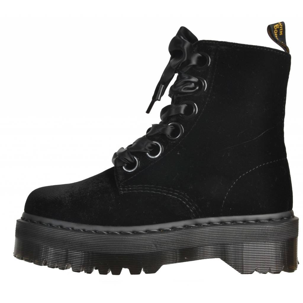 Großhandelspreis damen abwechslungsreiche neueste Designs DR. MARTENS MOLLY 6 EYE Talla 36 NEGRO Zacaris zapatos online.
