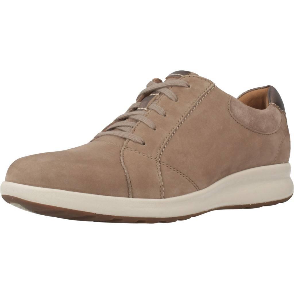CLARKS. Zapatos online. UN ADORN LACE PEBBLE MARRON