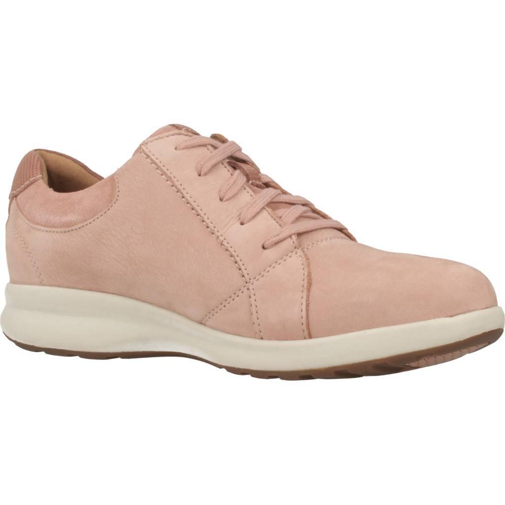 CLARKS UN ADORN LACE ROSE COMBI ROSA Zacaris zapatos online.