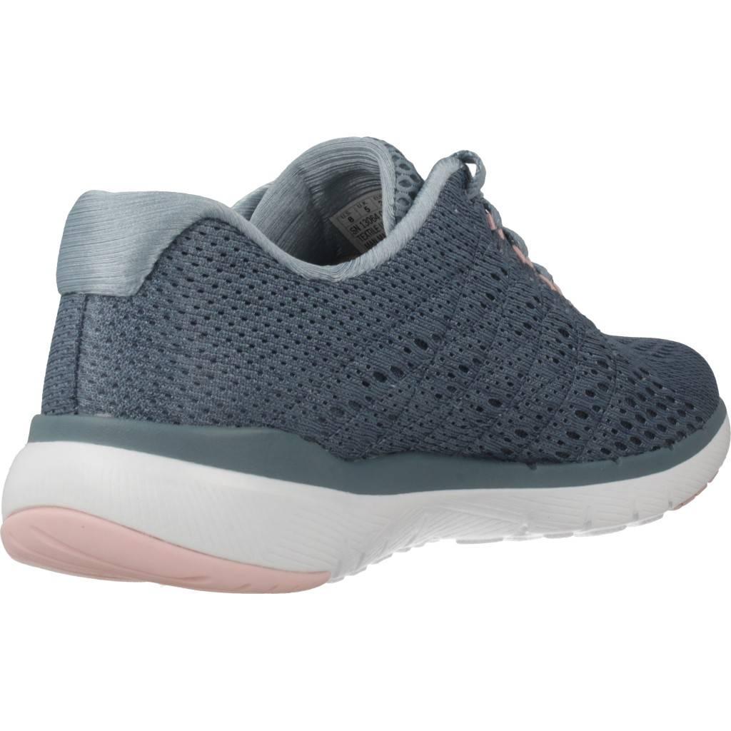 Skechers Flex Appeal 30-satellites Azul Zacaris Zapatos Online - Gran Venta