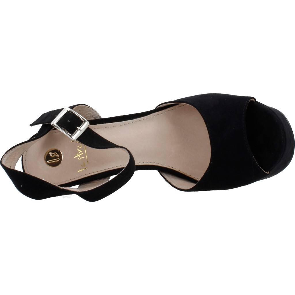 Damen Sandalen LA Schwarz STRADA 71641, Farbe Schwarz LA 7a1e2a
