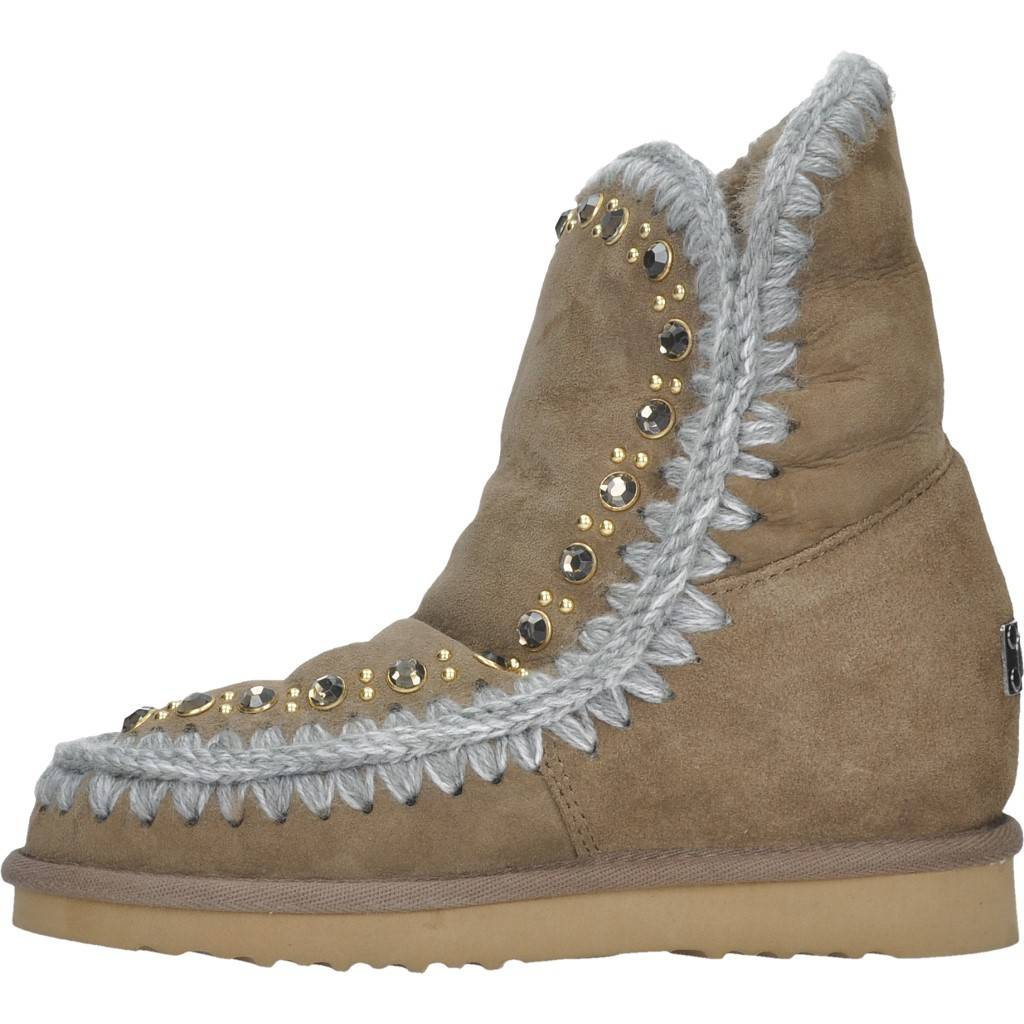 b49805bc1 MOU INNER WEDGE STUDS AND CRYSTALS MARRON Zacaris zapatos online.