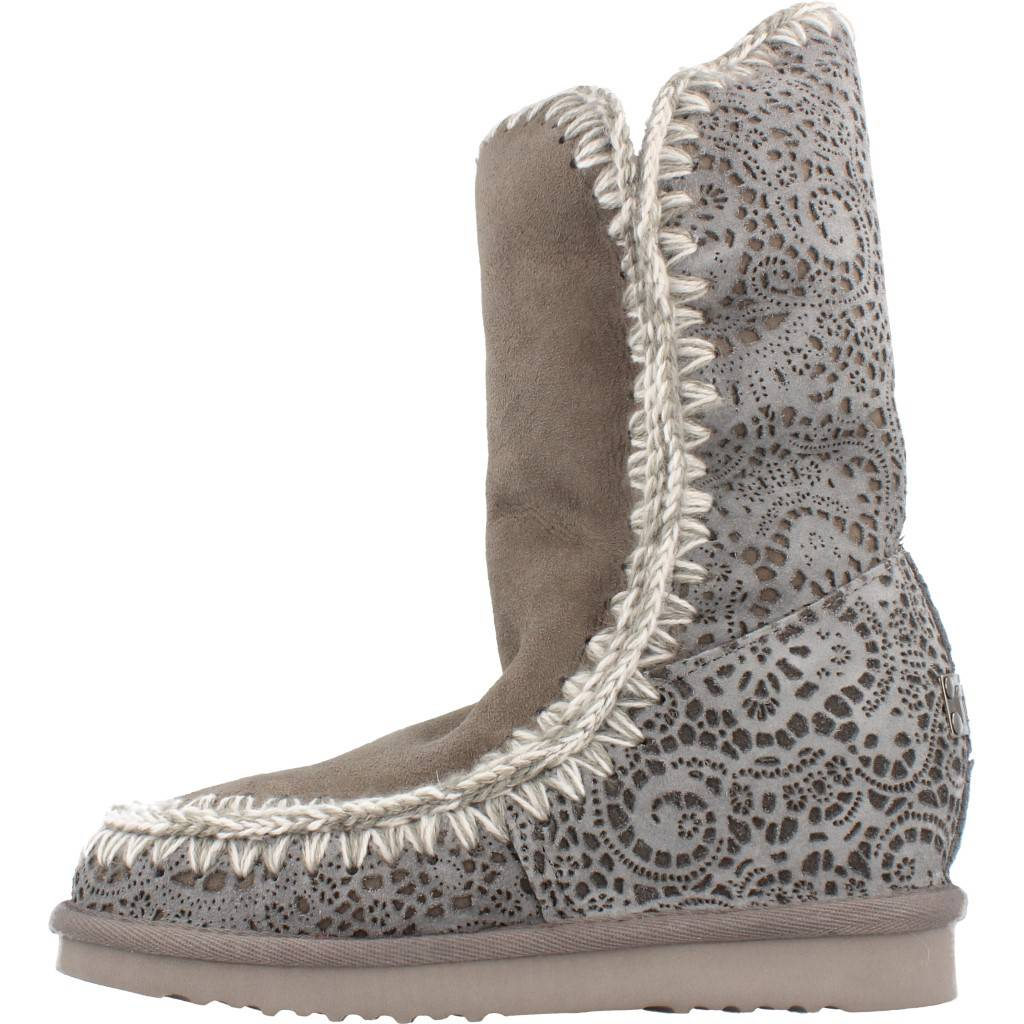Mou Wedge Lasered Inner Online Gris Tall Zapatos qWBC7qrHF