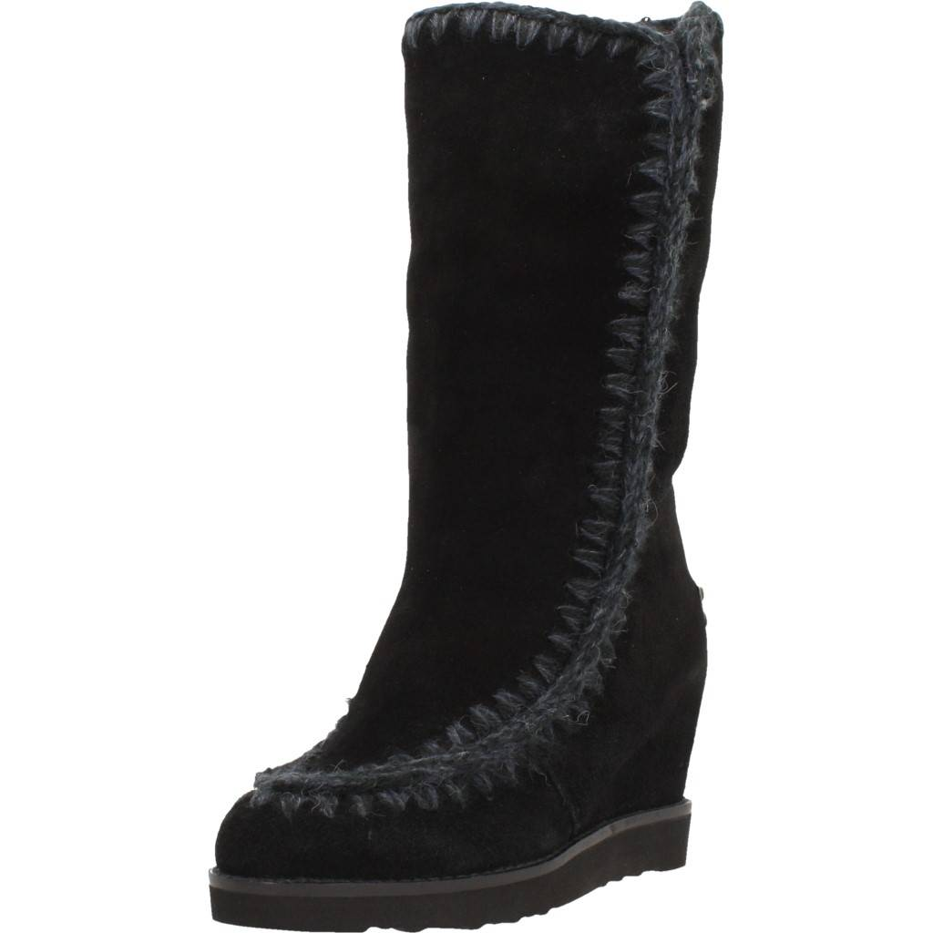 3ad25719660 MOU ESKIMO FRENCH TOE WEDGE TALL Talla 37 NEGRO Zacaris zapatos online.