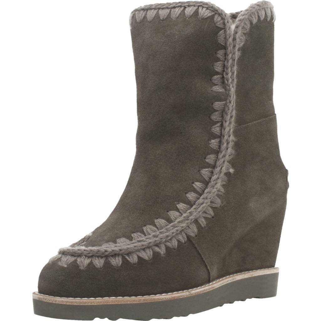 Mou French Toe Wedge Short Marron Zacaris Zapatos Online - Gran Venta
