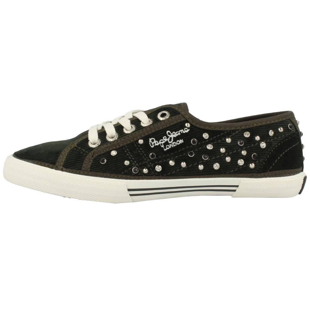 Grandes precios de zapatos para hombres y mujeres PEPE JEANS ABERLADY STUDS VERDEZapatos niños  Zapatos Niñas  Zapatillas