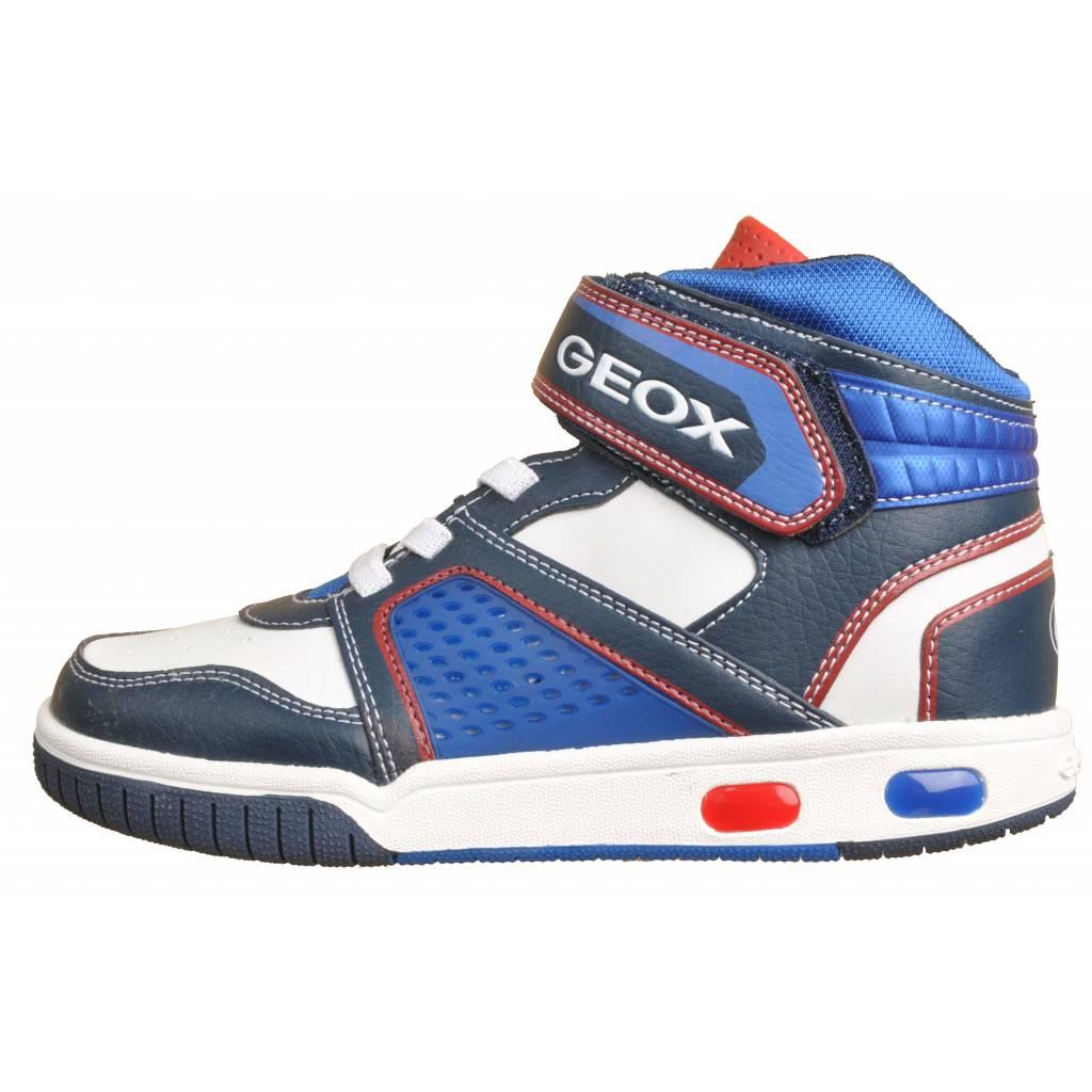 Con Zacaris Online Geox Zapatos Jr Azul Luces Gregg 41RwHE