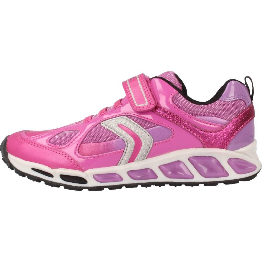 Grandes precios de zapatos para hombres y mujeres GEOX J SHUTTLE GD con luces ROSAZapatos niños  Zapatos Niñas  Zapatillas