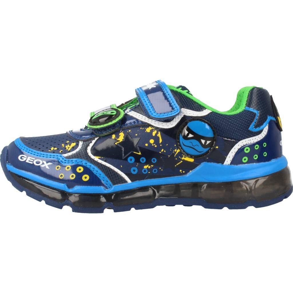 Grandes precios de zapatos para hombres y mujeres GEOX J ANDROID B con luces AZULZapatos niños  Zapatos Niños  Zapatillas