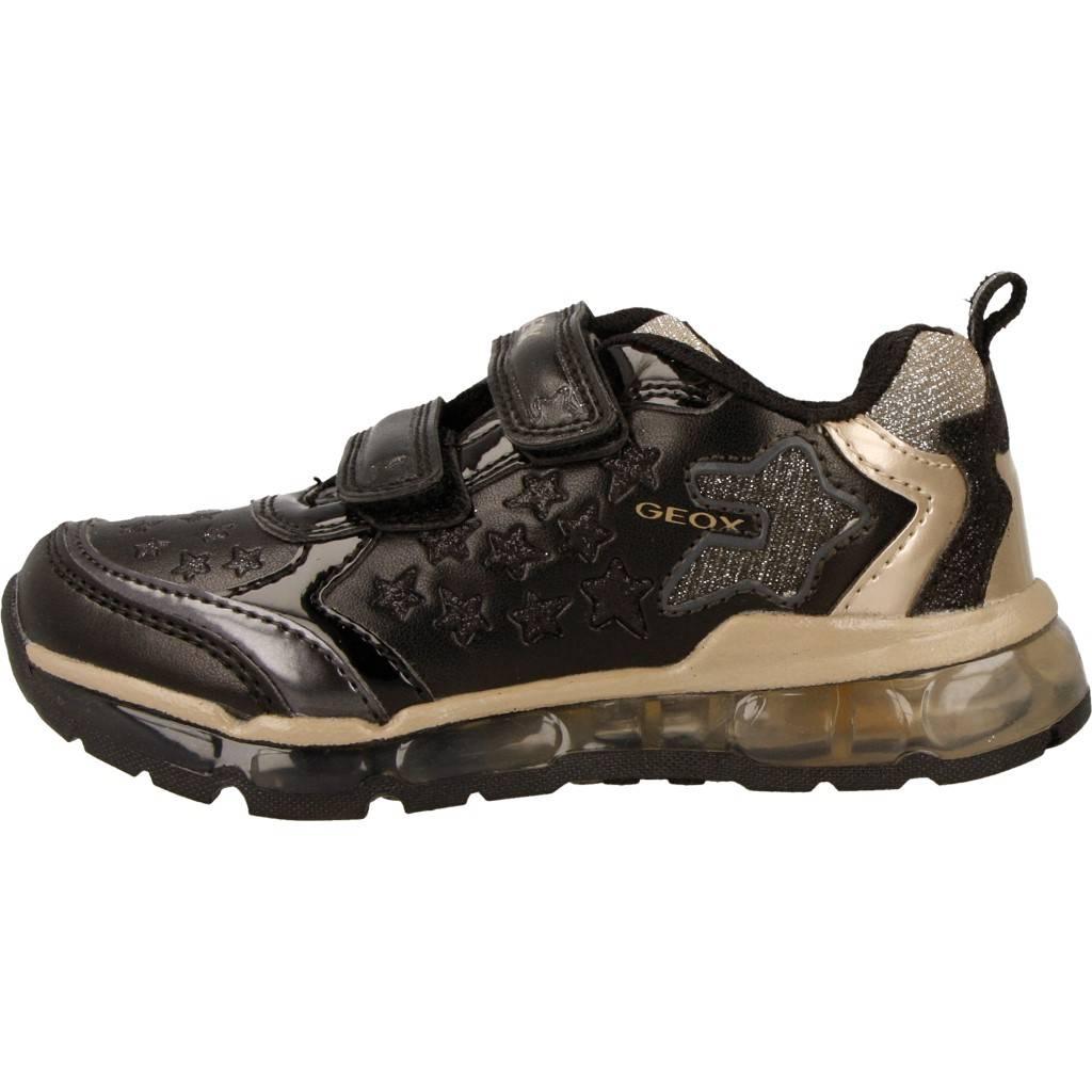 Grandes precios de zapatos para hombres y mujeres GEOX J ANDROID G A con luces NEGROZapatos niños  Zapatos Niñas  Zapatillas