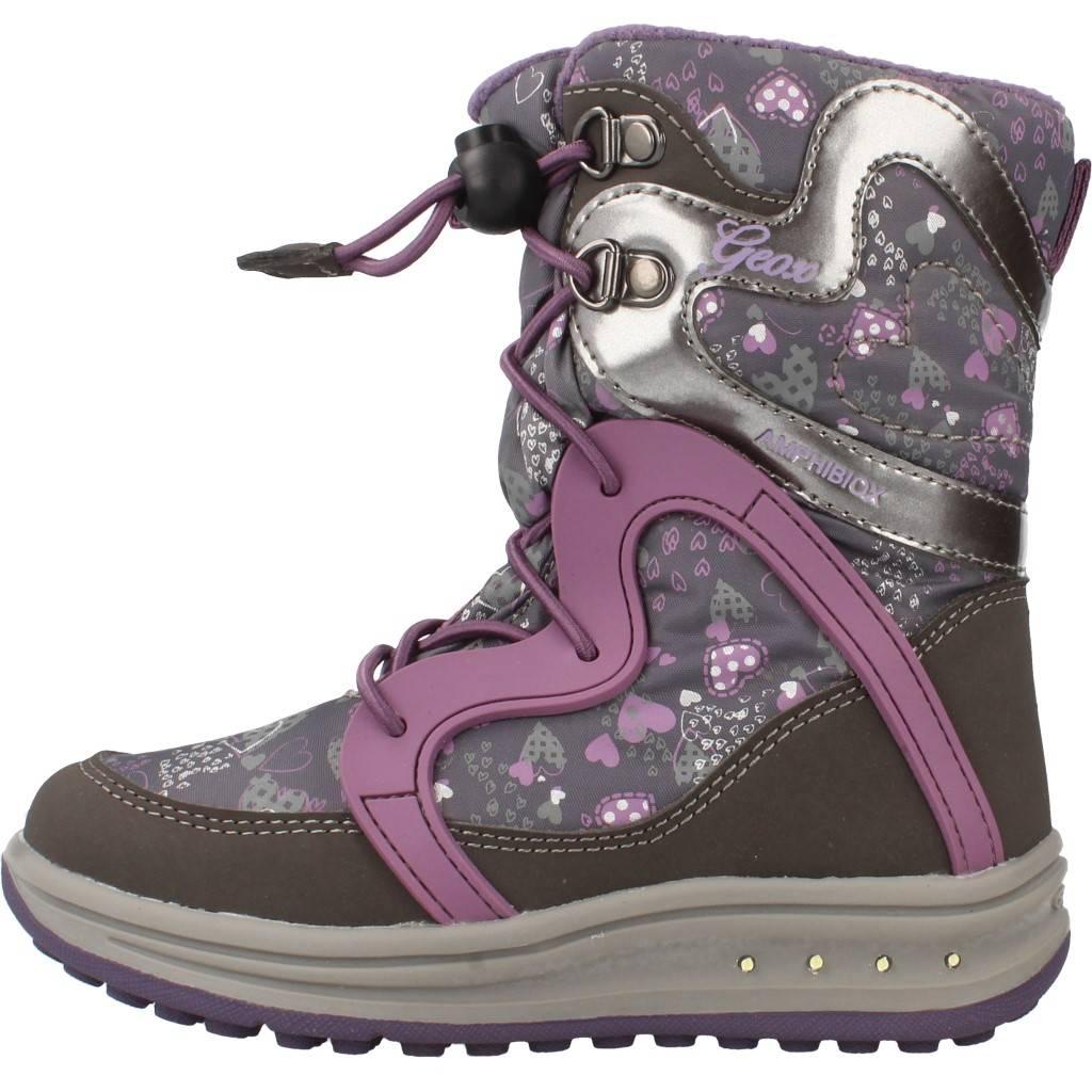 Grandes precios de zapatos para hombres y mujeres GEOX J ROBY B GIRL ABX con luces GRISZapatos niños  Zapatos Niñas  Botas