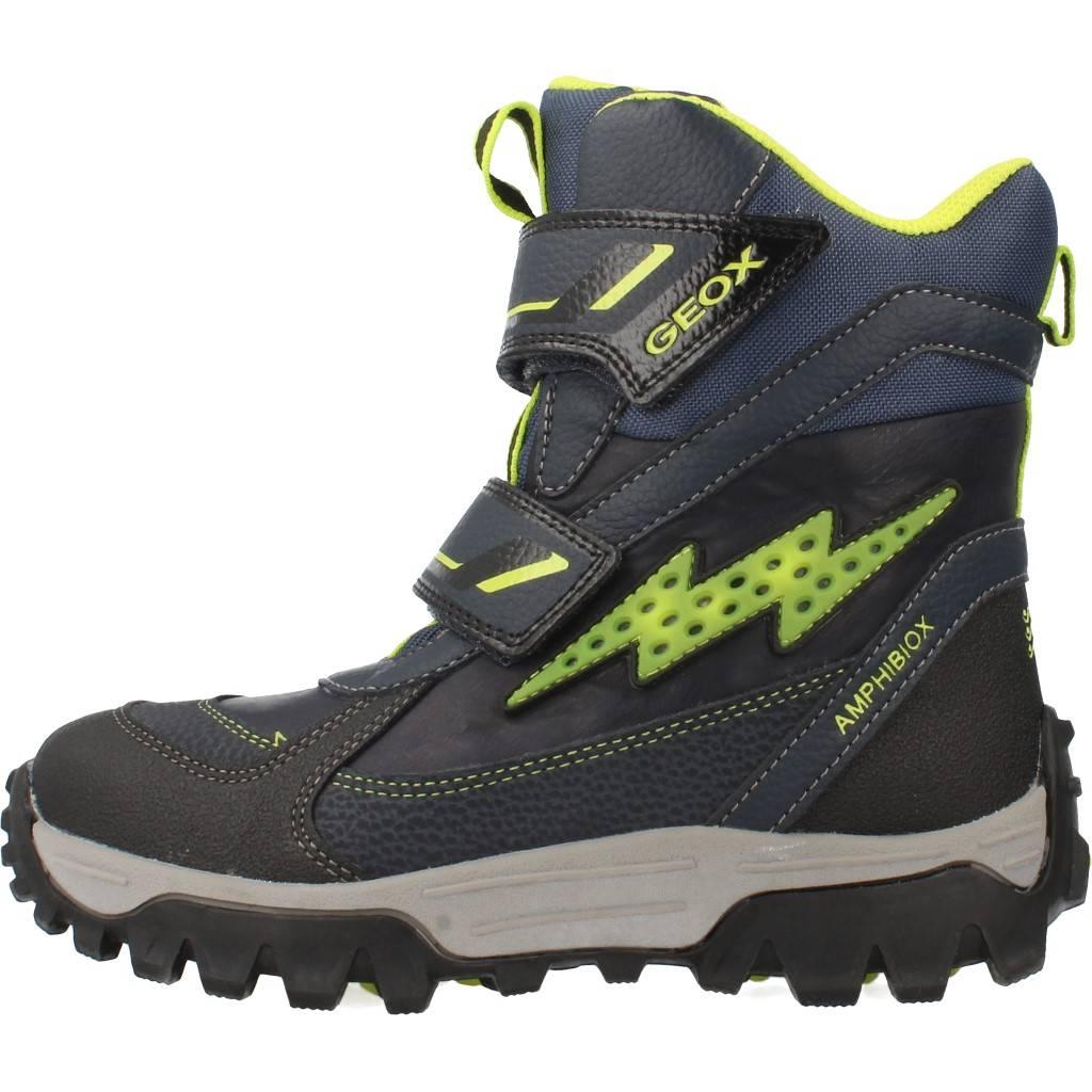 Grandes precios de zapatos para hombres y mujeres GEOX JR LTHIMALAYA B ABX con luces AZULZapatos niños  Zapatos Niños  Botas