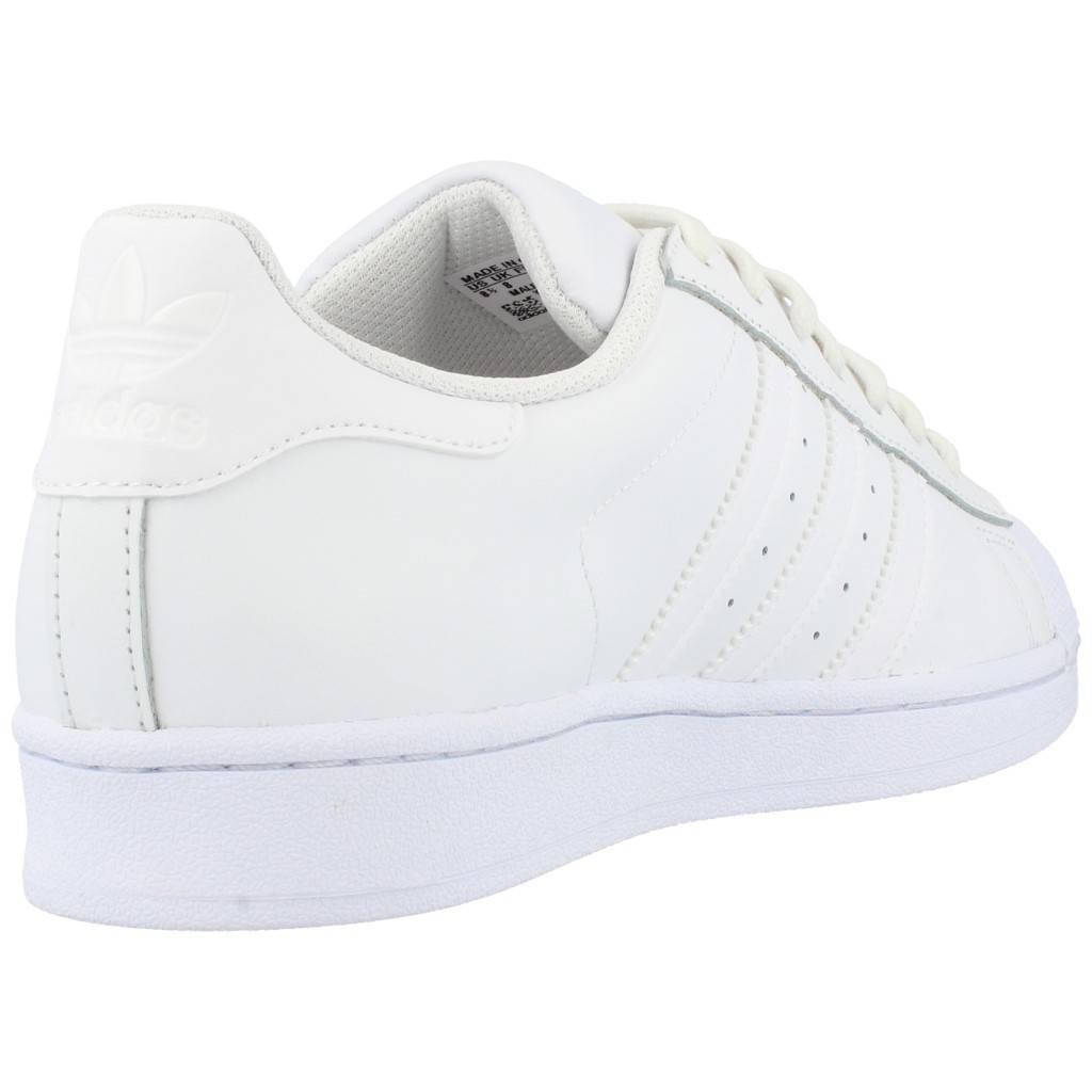 Detalles de Adidas Superstar Zapatos Originals Retro Ocio Zapatillas Blanco Naranja EE4472