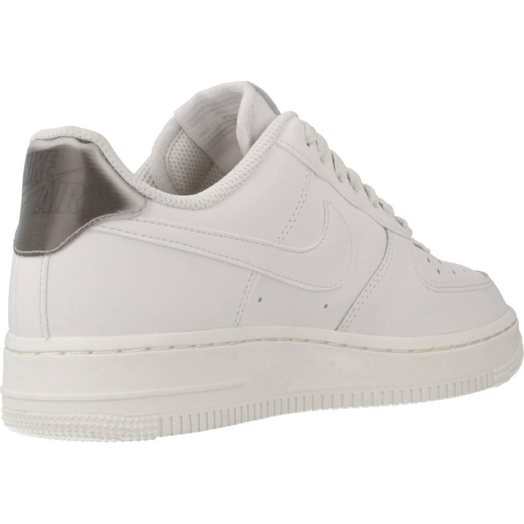 Detalles de Nike Air Force 1'07 Women Schuhe Damen Ocio Zapatillas Blanco Cherry AH0287 107