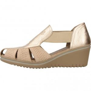 Zapatos Confort De Mujer 24 Horas En Color Oro Zapatos Comodos