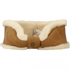 W SHEEPSKIN BOW HEADBAND