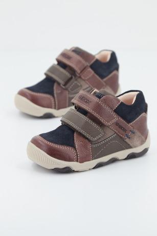 Botines GEOX zapatos es el negro Cuero Zapatillas niños NPPAKB